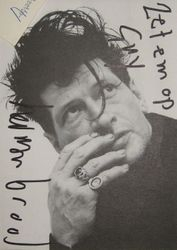 handwriting Herman Brood. Guy Donkers collection
