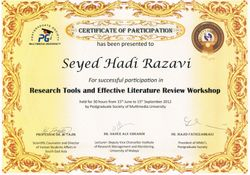Research Tools and Effective Literature Review Course