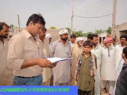 President Of HF Survey the Flood Area of District Muzaffargarh, Pakistan