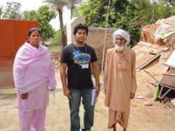 Vice President & Field Coordinator with one of the Flood Affected of District Rajanpur, Pakistan.