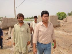 President of HF Survey the Flood Affected area of District Raheem-yar-Khan, Pakistan.