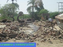 Flood Affected area of District Muzaffargarh, Pakistan.