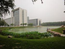 Water Pond Shenyang Medical College, China.