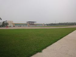 View of Sports Ground of Shenyang Medical College, China.