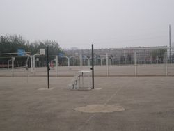 View of Basket Ball Ground No 1 of of Shenyang Medical College, China.