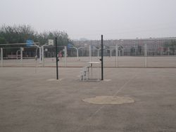 View of Basket Ball Ground No 2 of of Shenyang Medical College, China.