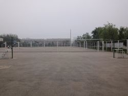 View of Tennis Court No 2 of of Shenyang Medical College, China.