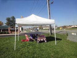 First tent set up