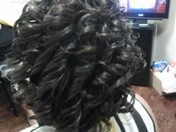 shampoo set spiral curls