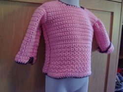 Girls sweater with new stitch