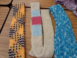 Scarves made on the long loom