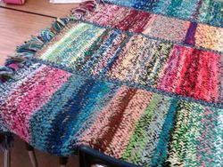 Rita's yarn left-overs blanket
