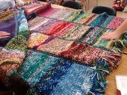Rita's left over yarn blanket