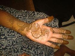 Arabic Mehndi Design on hand