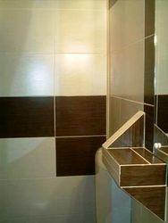Polita etajera baie din rigips placata cu faianta