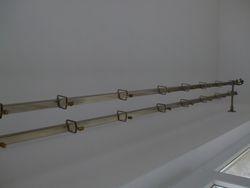 Galerie draperie cu sine patrate nuanta aurie
