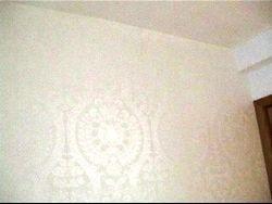 Imagini aplicat tapet alb apartament cluj-napoca