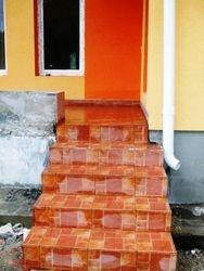 Placat gresie exterior scari trepte
