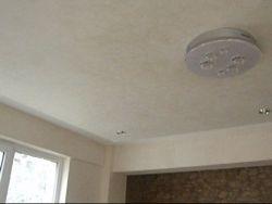 Rigips luminator tavan finisat cu vopsea decorativa Le velature