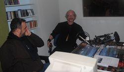 Bj�rn og Rune i radiostudio
