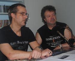 Trond og Maurits i radiostudio