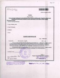 Himanshu Devgirkar Caste Cirtificate For OBC
