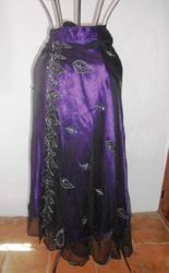 Skirt Wrap Indian Mauve Black inset