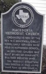 MACEDONIA METHODIST CHURCH