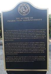 THE ALUMNI OF PRAIRIE VIEW UNIVERSITY