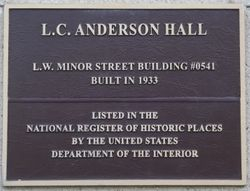L. C. ANDERSON HALL, First Administration Building
