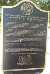 THE PAIRIE VIEW TRAINING SCHOOL, TEACHER TRAINING PROGRAM