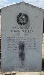 PLANTATION HOME OF EDWIN WALLER 1800 ? 1883