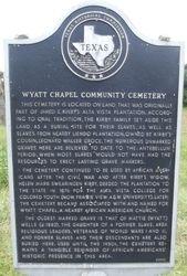 WYATT CHAPEL COMMUNITY CEMETERY