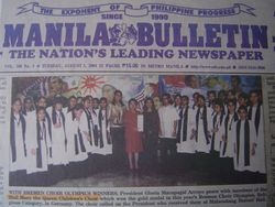 Manila Bulletin Frontpage