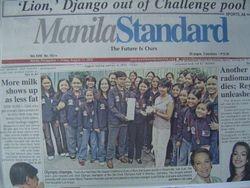 Manila Standard Frontpage