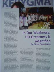 "From ""Kerygma"" Magazine"