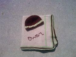 baby blanket w/ hat