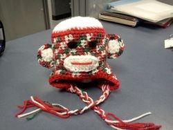 christmas sock monkey hat