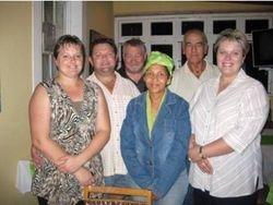 Left to right: Chantelle & Shelden Sneygans, Phillip Otto, Kittie Jacobs, Willie Steenberg, Cornelle Meiring, Dean Edwall