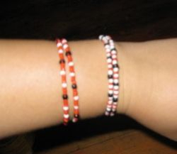 Arm bracelets made by our clients
