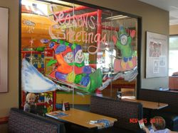 Chik-Fil-A interior play area window