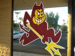 """Sports logos- """"Sparky"""", ASU's logo"""