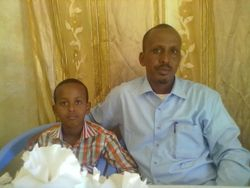 The Horizon Chairperson and his Son Mohamed-Amiin