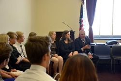 Rep Shimkus greeted the Baltic students
