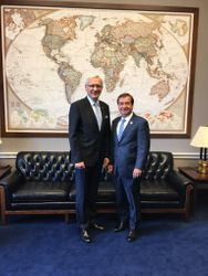 Ambassador Teikmanis and Representative Ed Royce