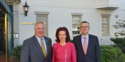 House Baltic Caucus Co-Chair Rep John Shimkus met with Latvian MPs Solvita Aboltina and Ainars Latkovskis