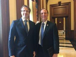Lithuanian Ambassador Rolandas Krisciunas met with House Baltic Caucus Co-Chair Adam Schiff