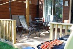 Sommer grill p? terrassen