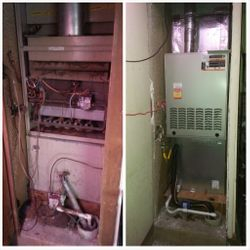 Gas Furnace Replacement - Before and After