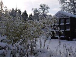 Snowy summerhouse